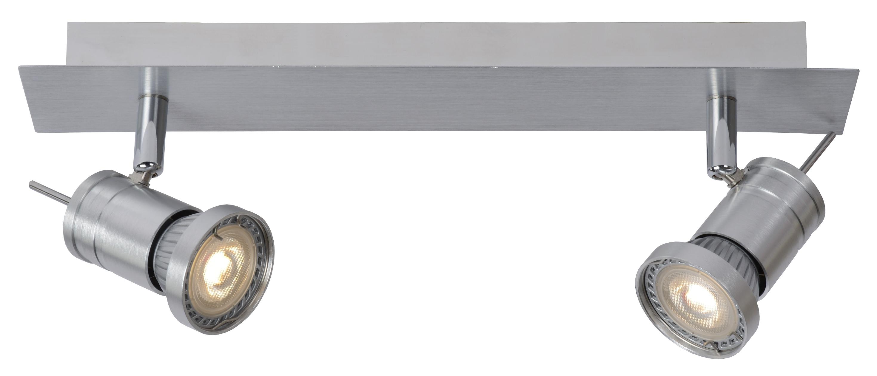 Lucide Plafondspot Twinny-2 Dimbare LED - Mat Chroom