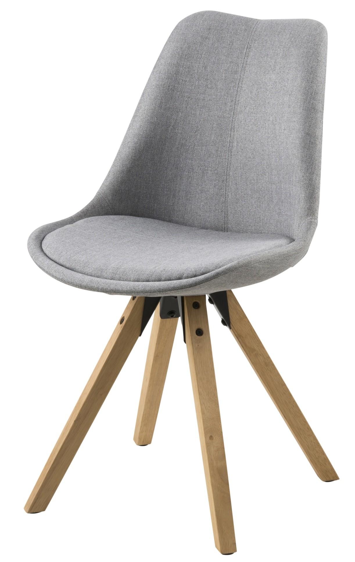 24designs set 2 stoelen dex witte zitting witte houten