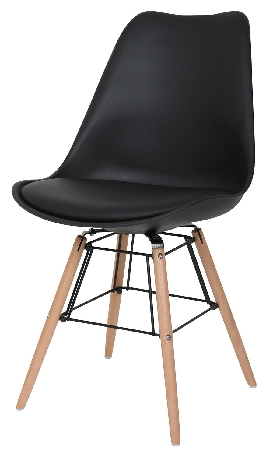 24designs stoel dex witte zitting witte houten poten in de for Design 24 stoelen