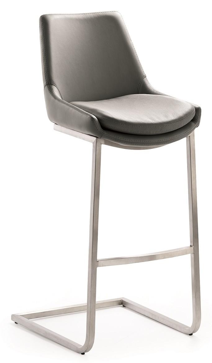 24designs verstelbare barkruk scott mokka in de aanbieding kopen - Lounge design grijs ...