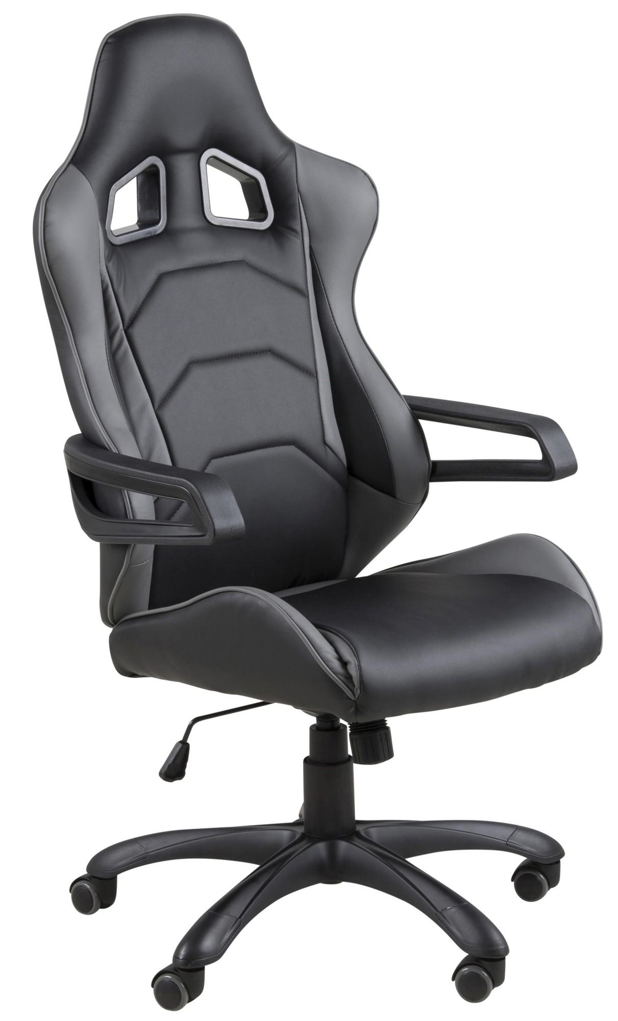 game bureaustoel racer sport zwart grijs hjh office in de