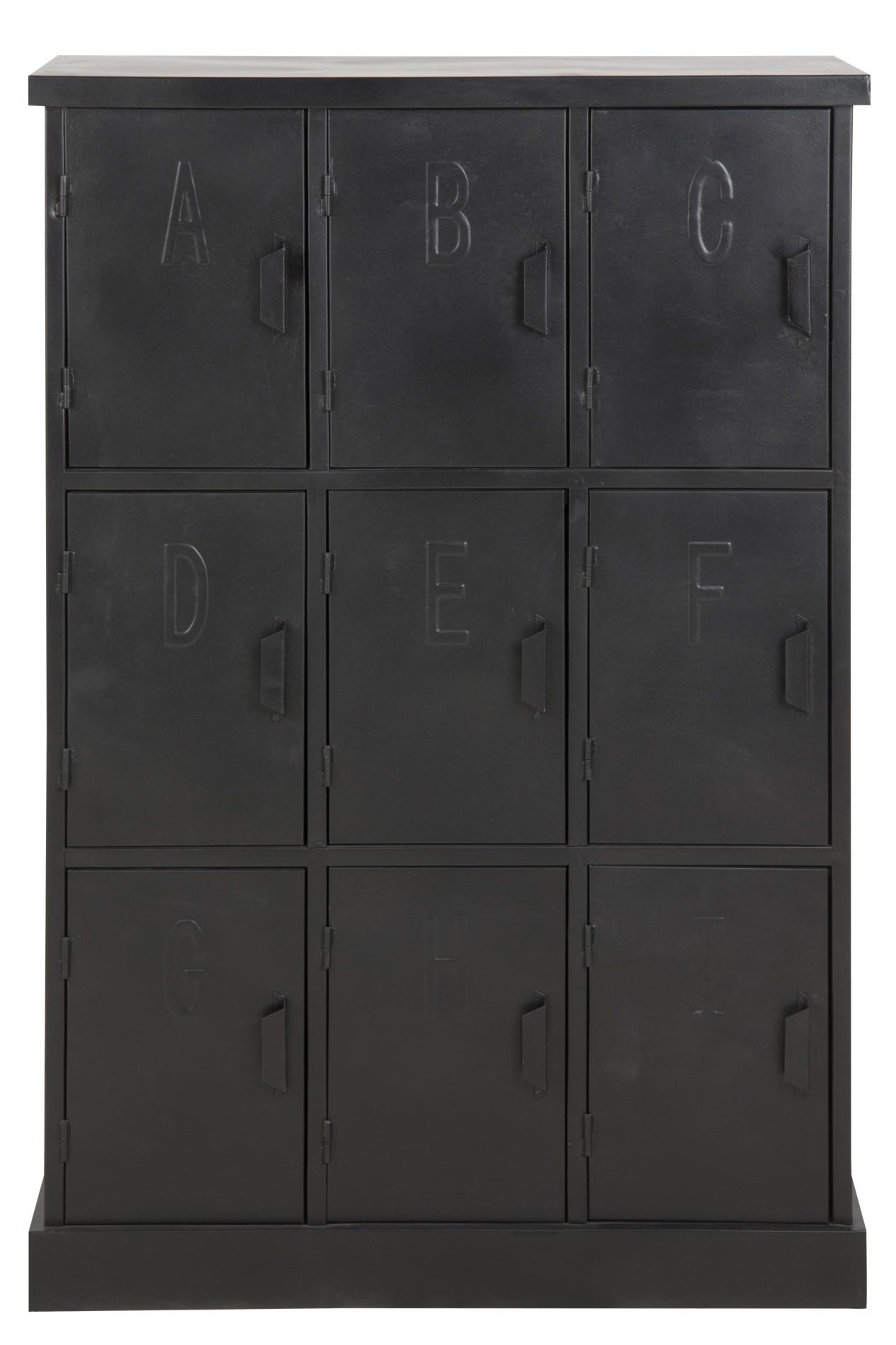 24designs Locker Kast Nashville L85 X B35 X H123 Cm Metaal Zwart kopen