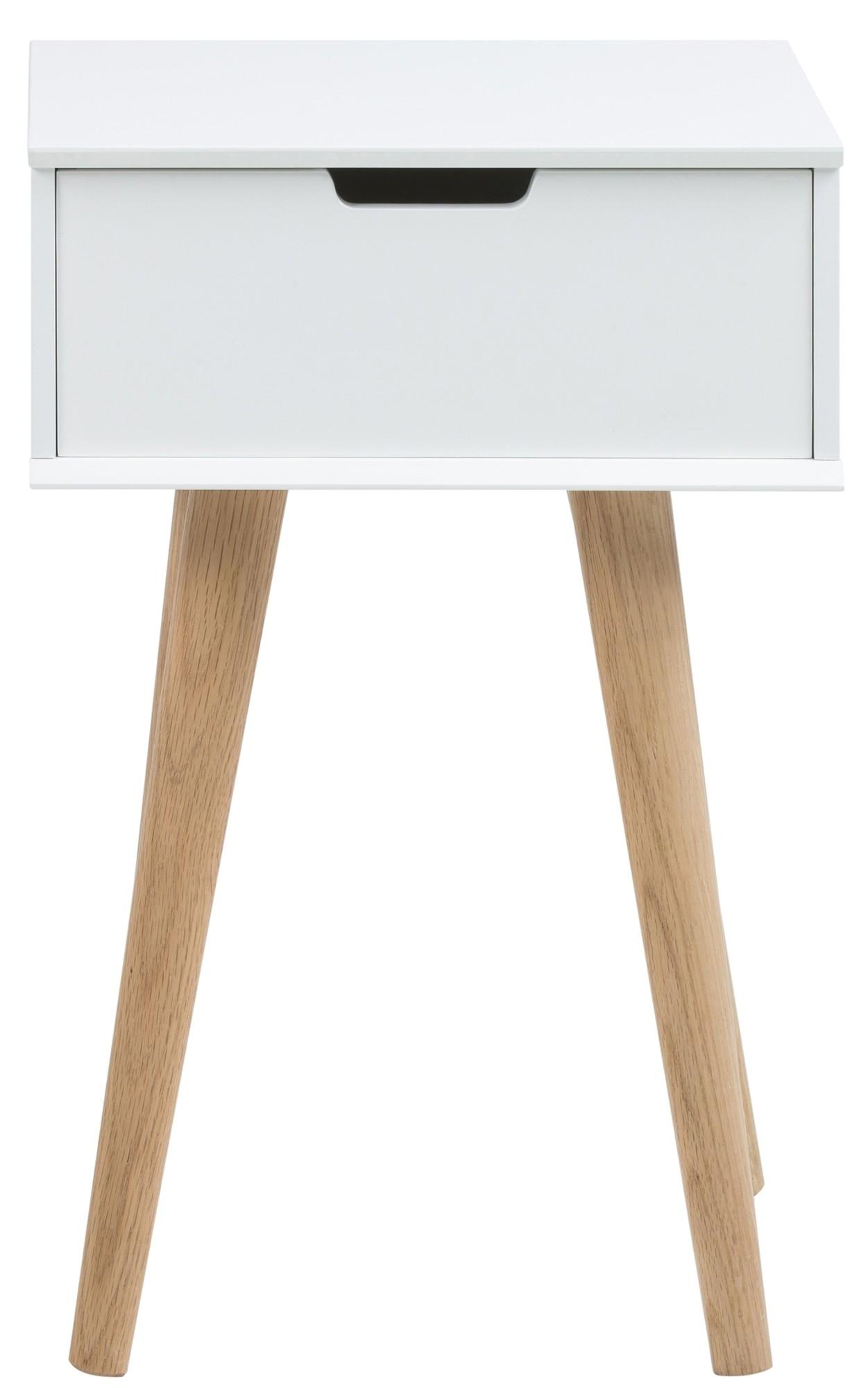 Ethnicraft oak madra nachtkast 60 x 27 cm ethnicraft in de aanbieding kopen - Wit hout nachtkastje ...