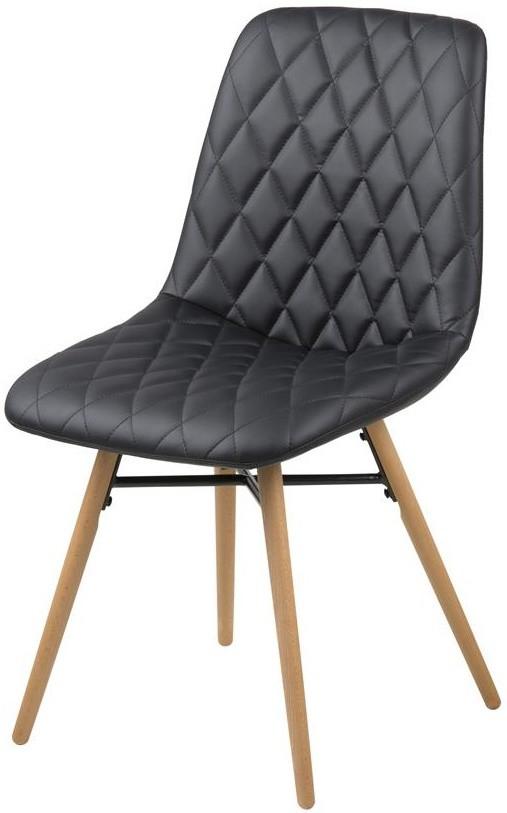 24designs outlet set 2 stoelen lizz kunstleer zwart for Design 24 stoelen
