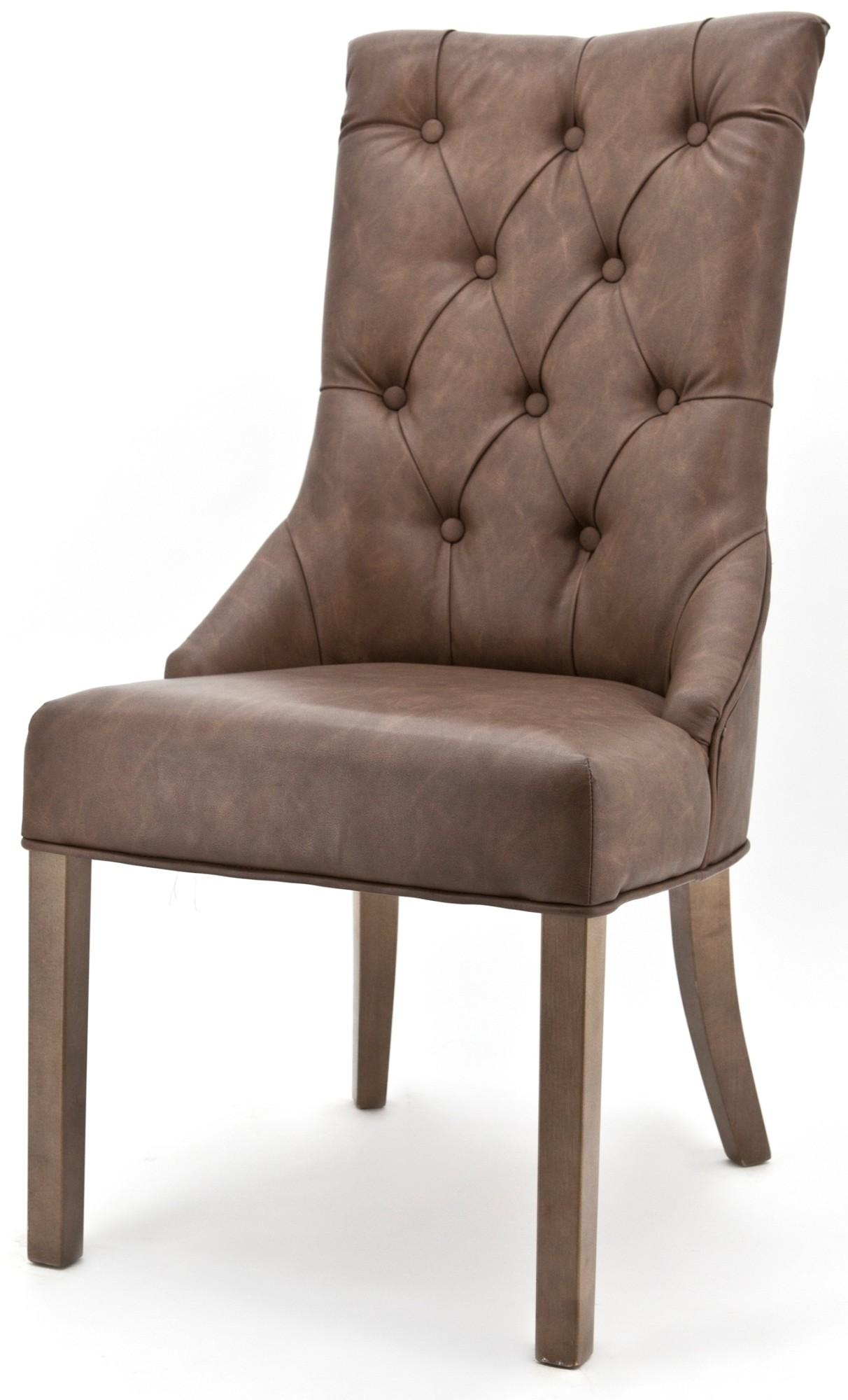 Carla eetkamerstoel vintage bruin eleonora aanbieding for Design stoel 24