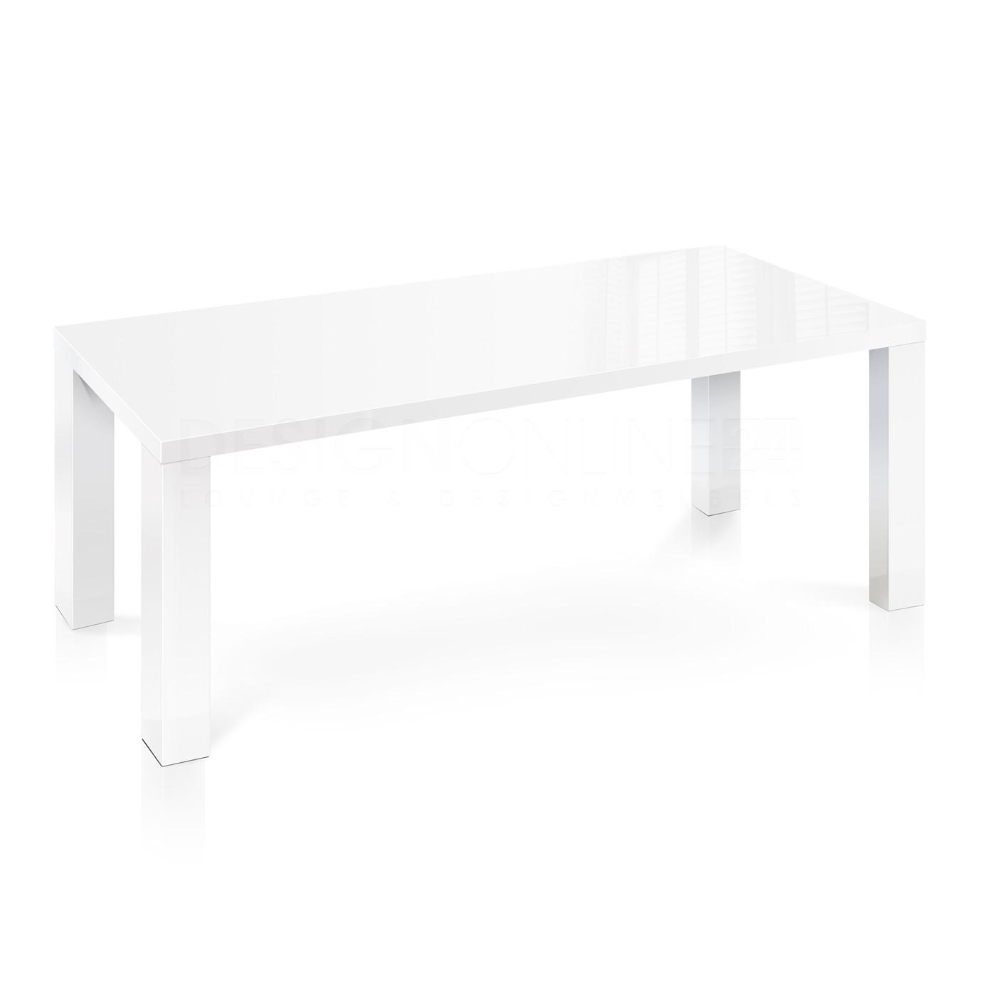 Hoogglans Keuken Krassen : 24designs Tafel High Gloss – L240 X B110 X H76.5 CM – Wit Tafelblad