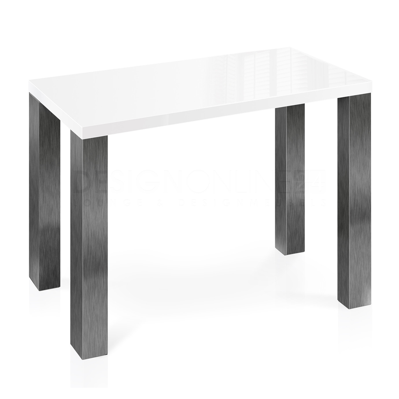 Hoogglans Keuken Krassen : Image 24designs Bartafel 135 X 70 X 92 Cm – High Gloss Wit – Rvs