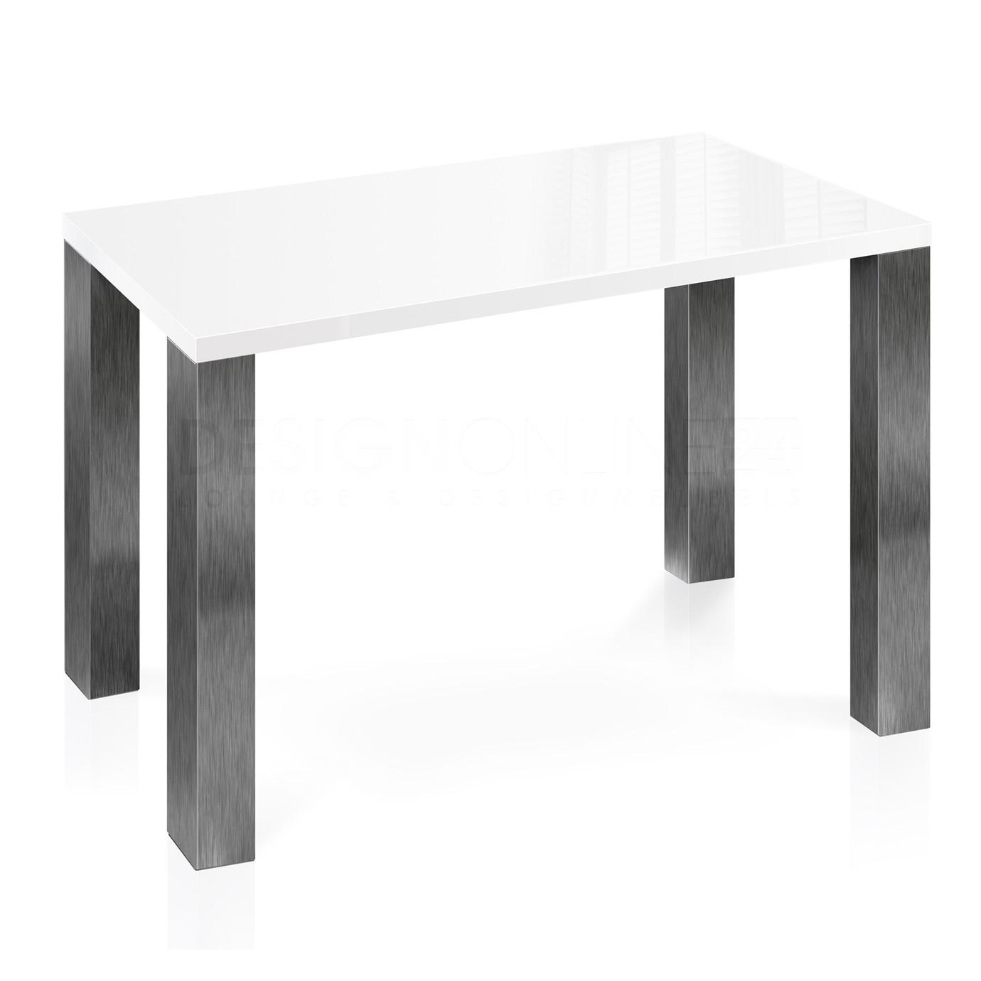 Hoogglans Keuken Krassen : 24designs Hoge Tafel 160 X 90 X 92 Cm – High Gloss Wit – Rvs Design
