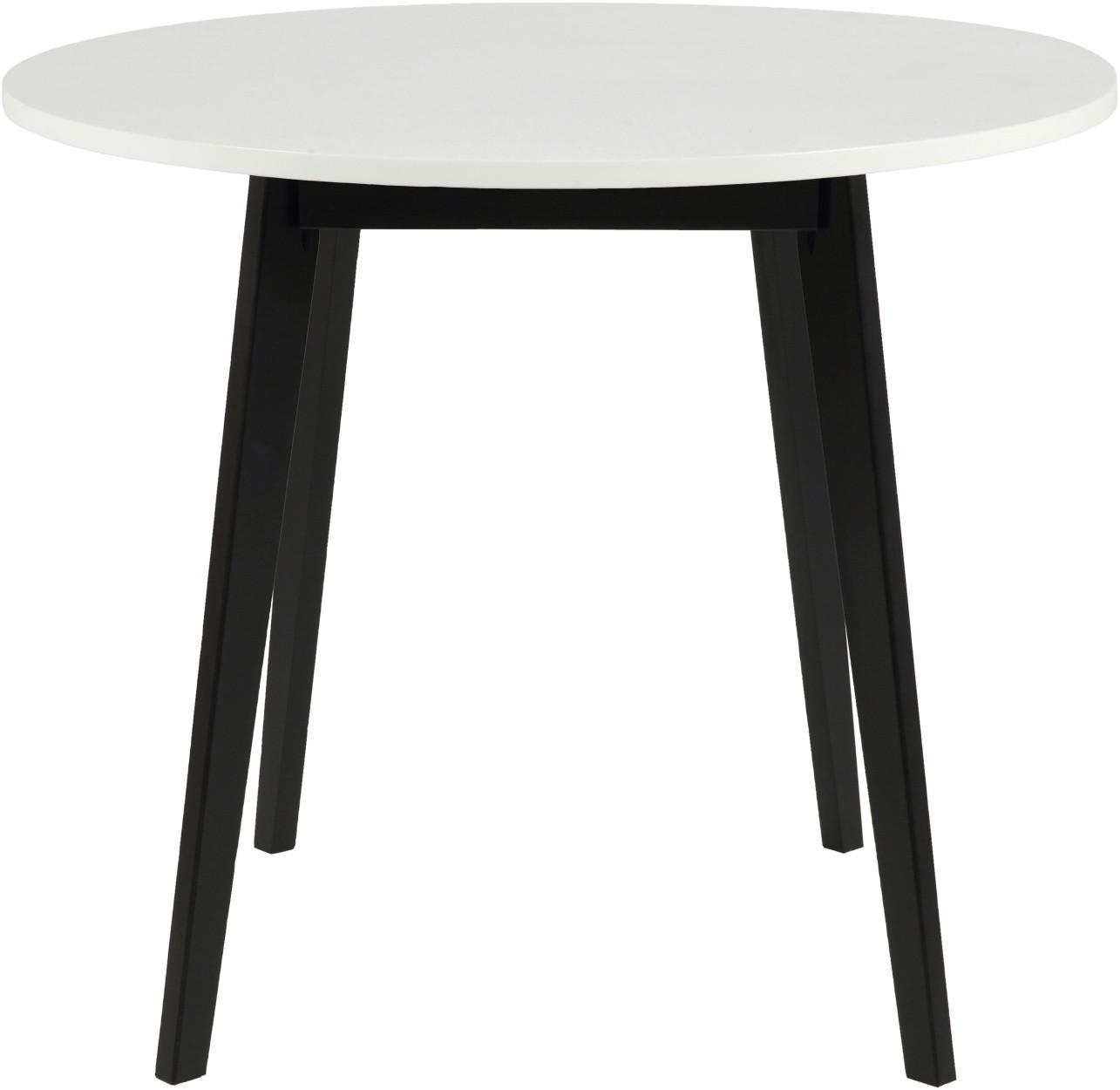 Zwarte houten ronde tafel raum und m beldesign inspiration - Tafel eetkamer hout wit ...