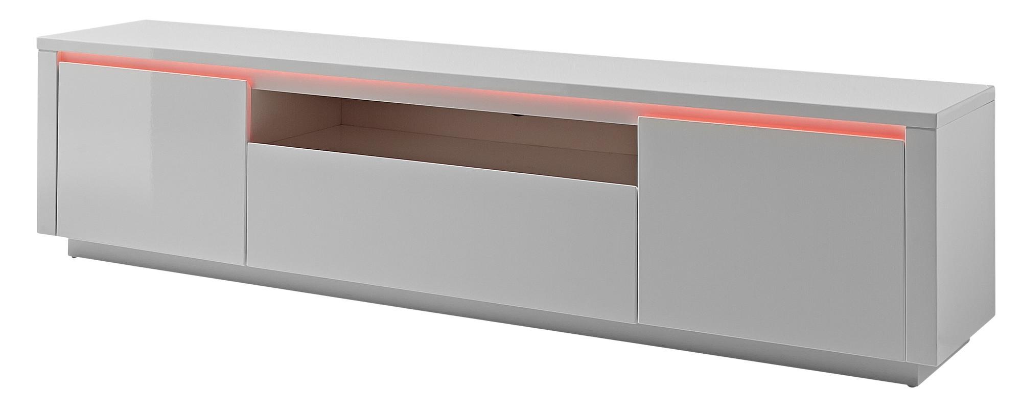 #8F453C23659340 24Designs TV Meubel Chicago LED L180 X B40 X H45 Cm Hoogglans Wit Meest effectief Design Meubels Met Korting 2355 behang 281611292355 afbeeldingen