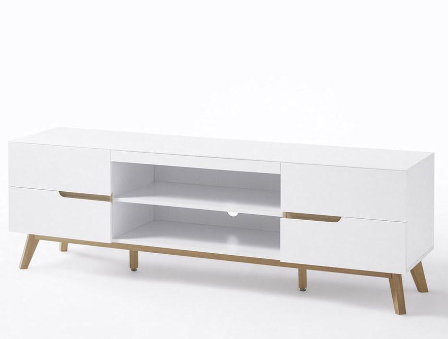 24Designs Modern TV-meubel Rivalto L169 x B41 x H76 cm - Mat Wit