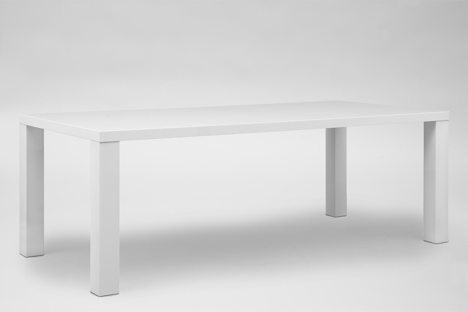 Hoogglans Keuken Krassen : 24designs Tafel High Gloss L220 X B100 X H76 5 Cm Wit Tafelblad Witte