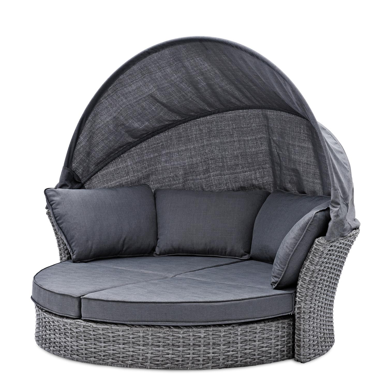Lounge ligbed kopen online internetwinkel - Grijze lounge taupe ...