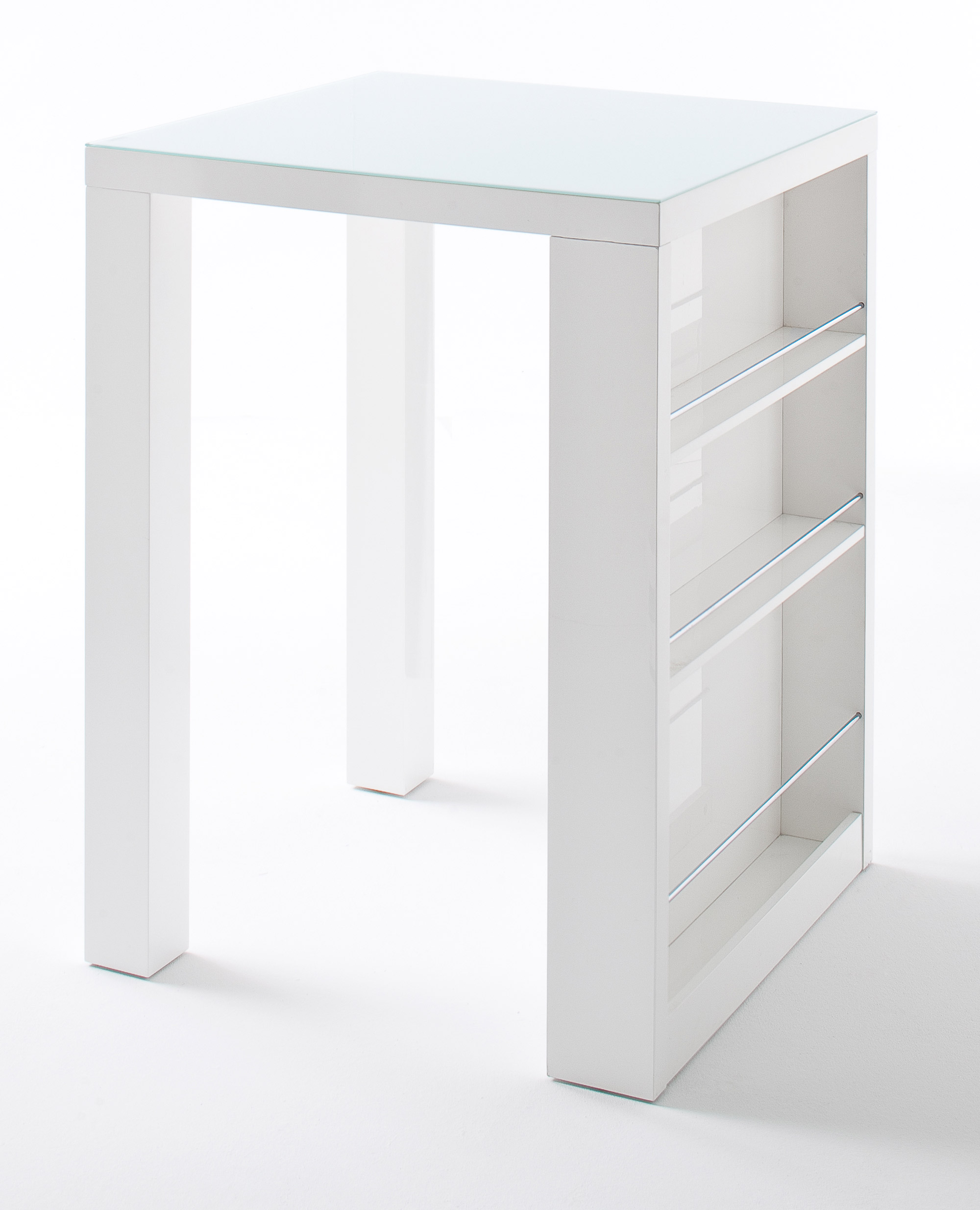 Hoogglans Keuken Krassen : Bartafel Royal Glass – L80 x B80 x H107 cm – Hoogglans wit bestellen