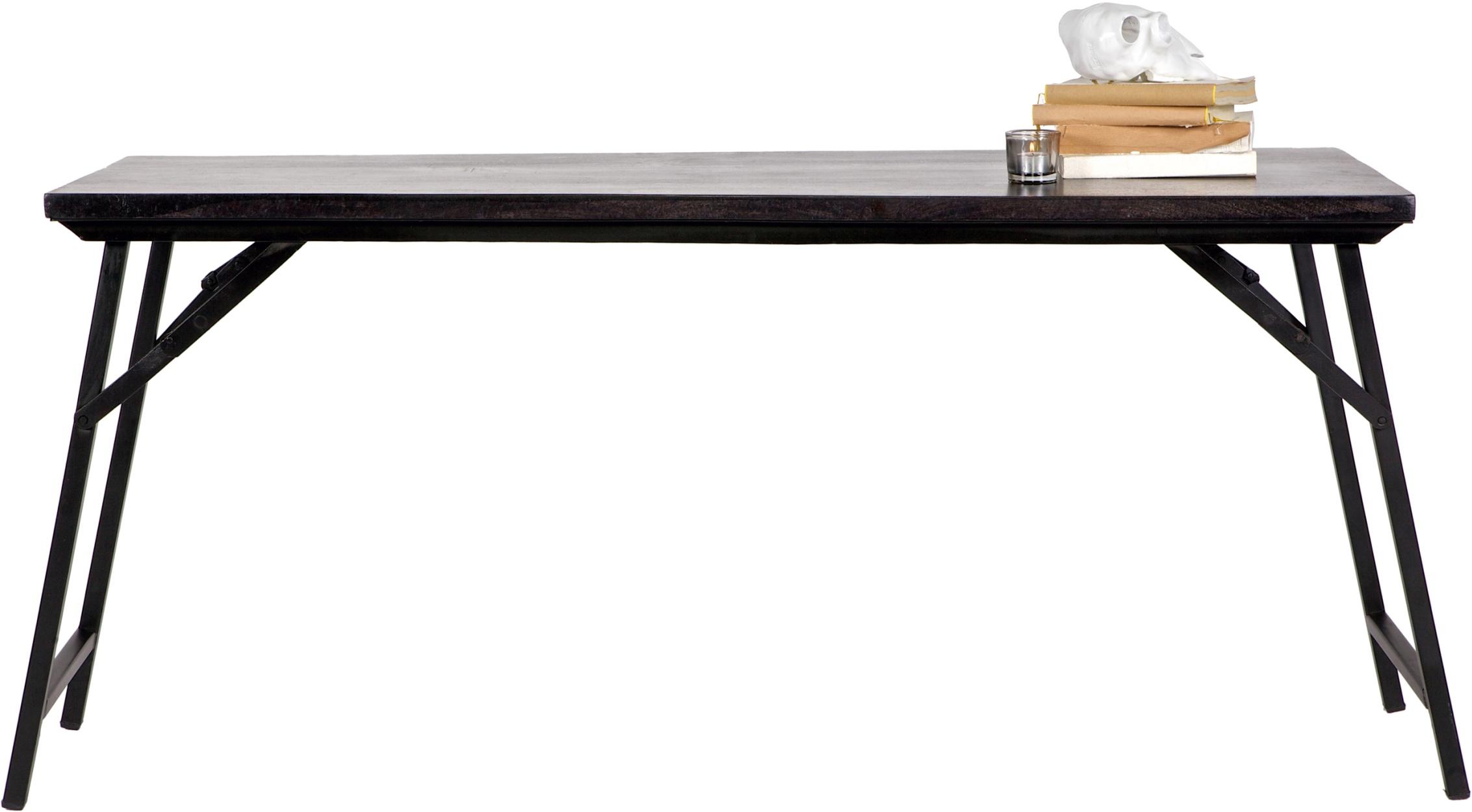 BePureHome Tafel Fold Up L150 x B50 x H72 cm Hout Zwart