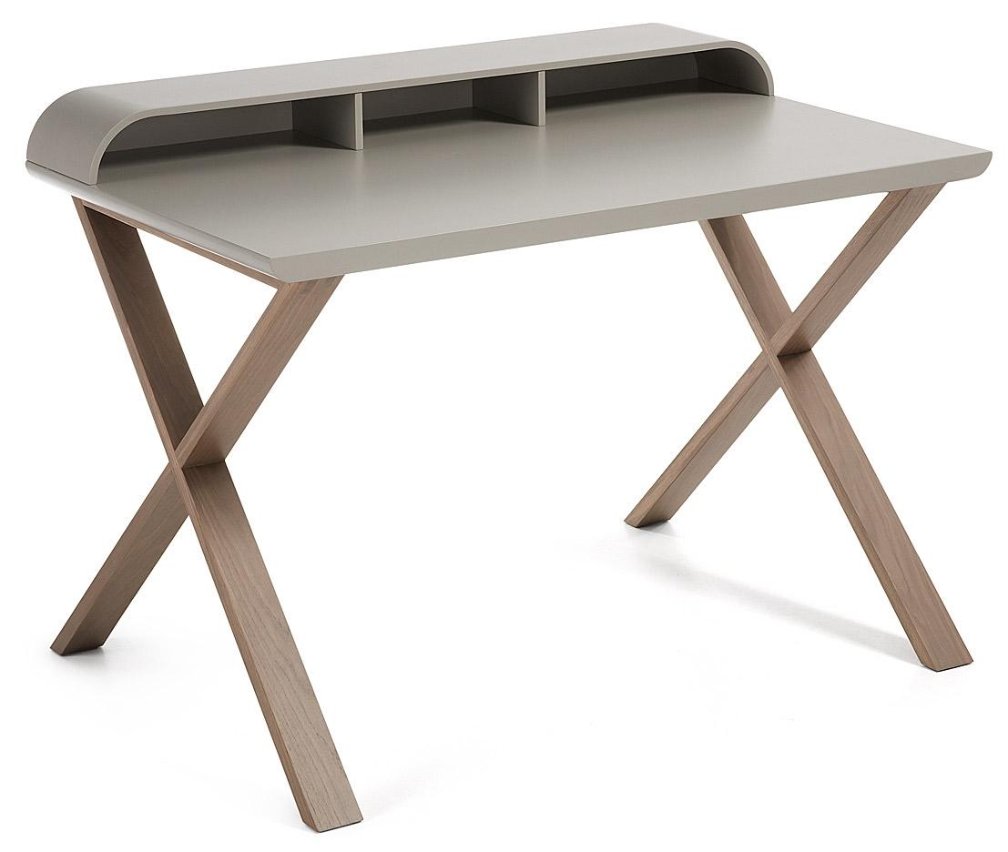 laforma bureau success mat lichtgrijs walnoot in de aanbieding kopen. Black Bedroom Furniture Sets. Home Design Ideas