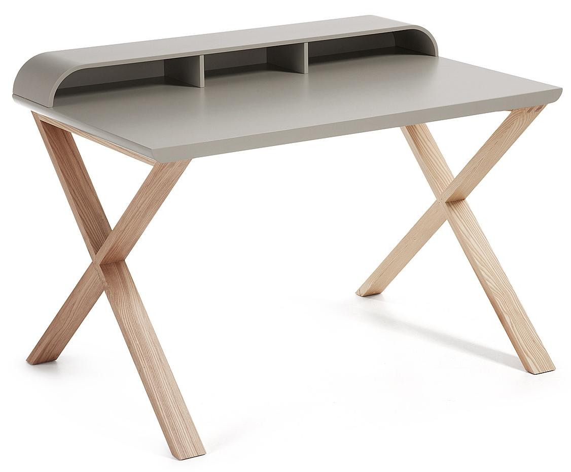 laforma bureau success mat lichtgrijs essen in de aanbieding kopen. Black Bedroom Furniture Sets. Home Design Ideas