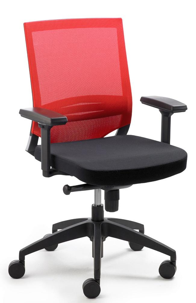 Directie bureaustoel freedom task laag in de aanbieding kopen - Eetkamer rood en zwart ...