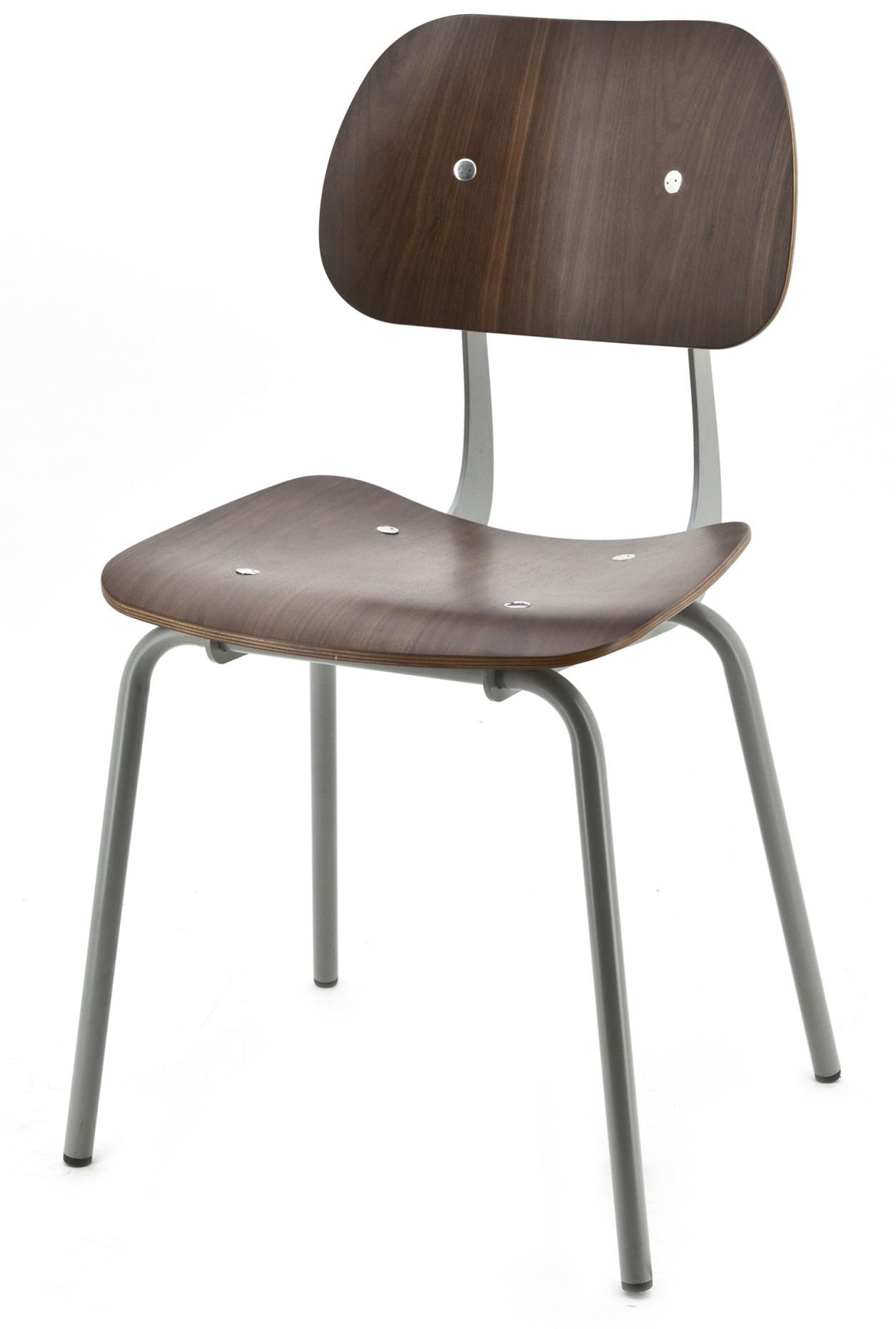 By boo set 2 stoelen detention hout grijze poten for Design 24 stoelen