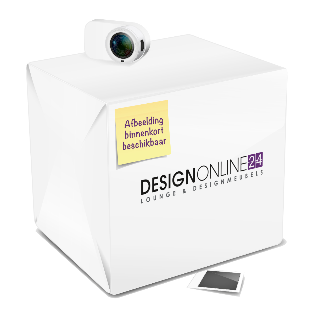 24Designs Bijzettafel Capri - Ø40 x H50 cm - Chromen onderstel - Wit