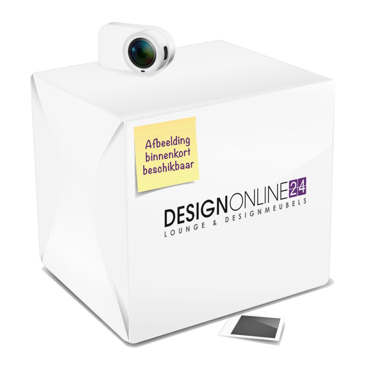 24Designs Draaibare Stoel Leon - Chromen onderstel - Witte kunstleren zitting