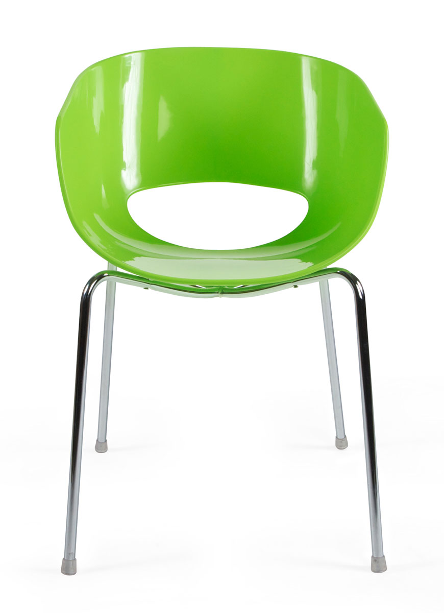 Image design stoel eggshell orbit groen for Design stoel 24