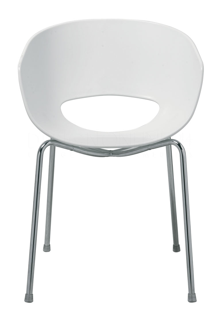 Image kare design design stoel orbit wit for Design stoel wit
