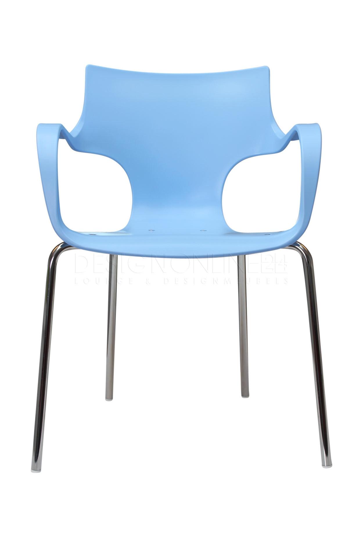 Image 24designs design stoel rik ijsblauw for Design stoel 24