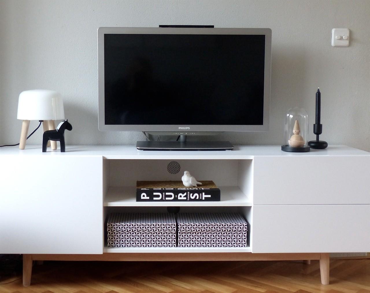 24designs tv meubel olavi wit aanbieding kopen - Console ingang kast lade ...