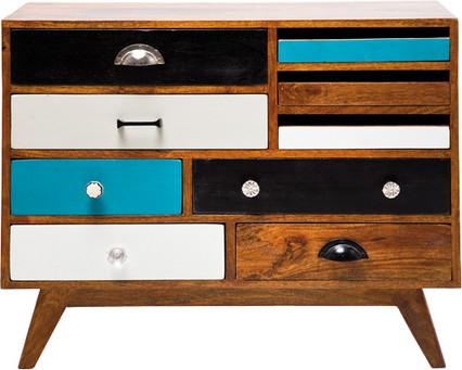 Kare Design Dressoir Babalou Beach 9laden L80 X B35 X H65 Cm Mangohout kopen