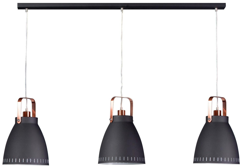 Eth Hanglamp Ajaccio - Balk - Ellipse - 5-lichts - Geborsteld Staal