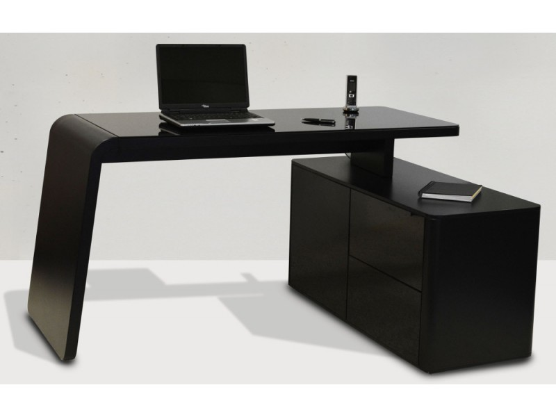 image jahnke bureau csl 465e 155x60 cm mat zwart. Black Bedroom Furniture Sets. Home Design Ideas