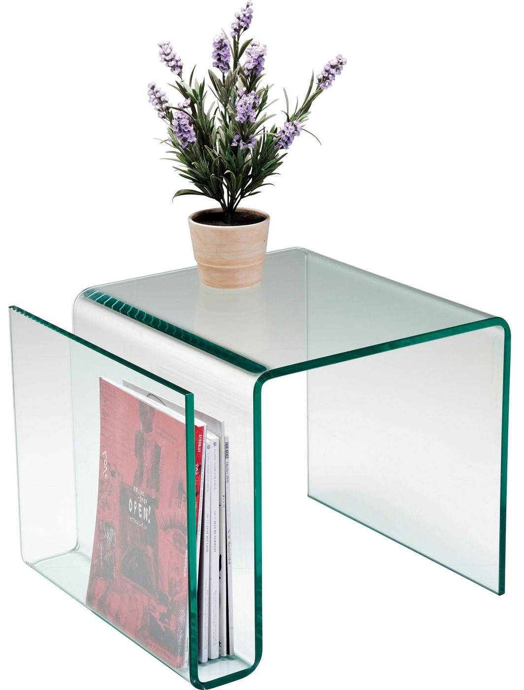 Bijzettafel design glas kopen online internetwinkel for Porte revues pas cher