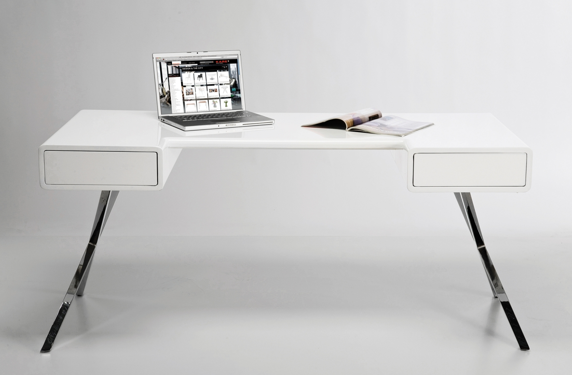 Bureau smart desk wit loftscape aanbieding kopen for Design bureau 1