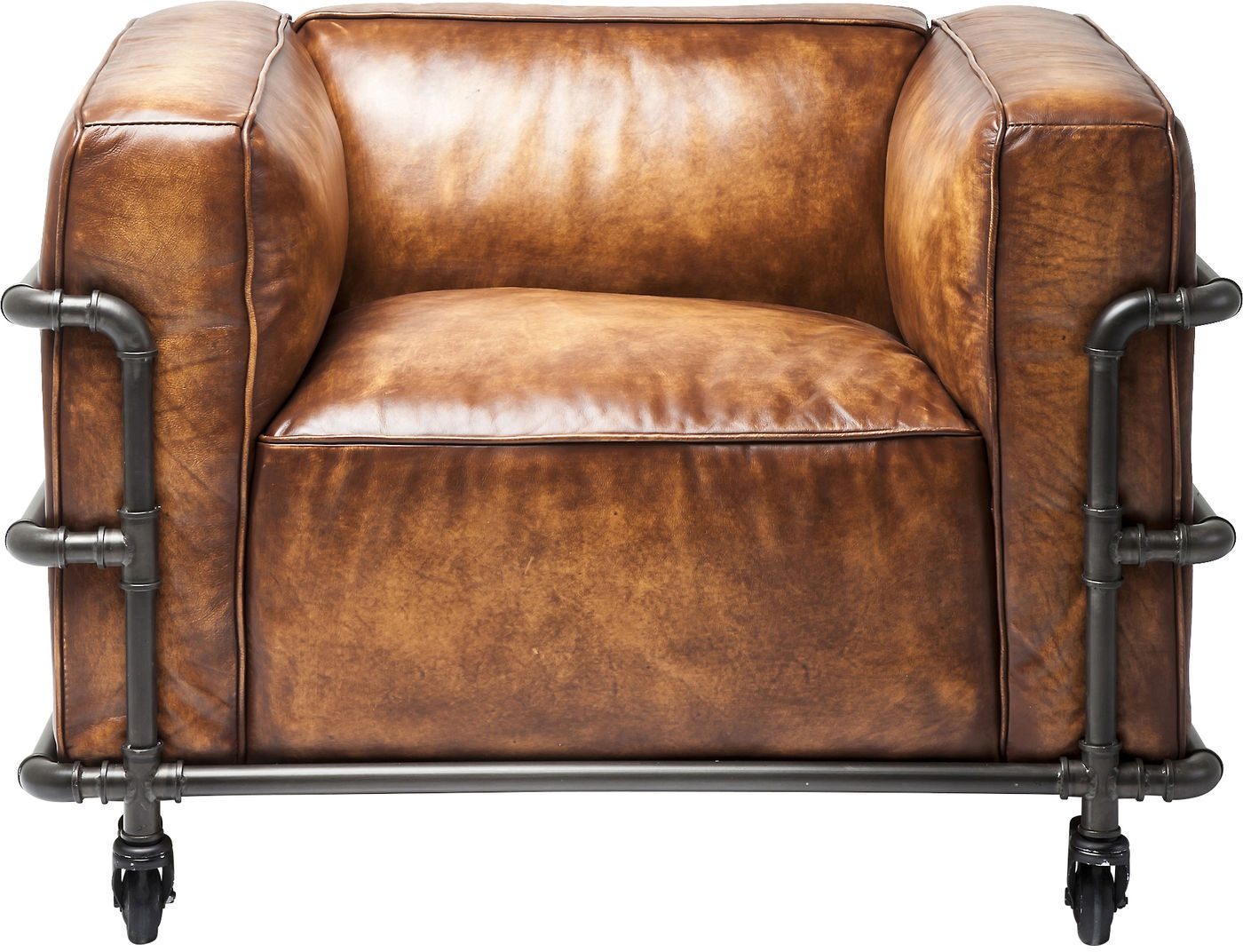 Leren fauteuil kopen online internetwinkel for Bruine leren stoel