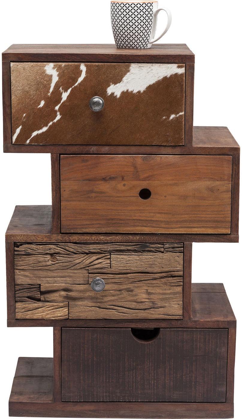 Kare design ladekast texas 4 laden l50 x b35 x h88 cm acacia hout ...