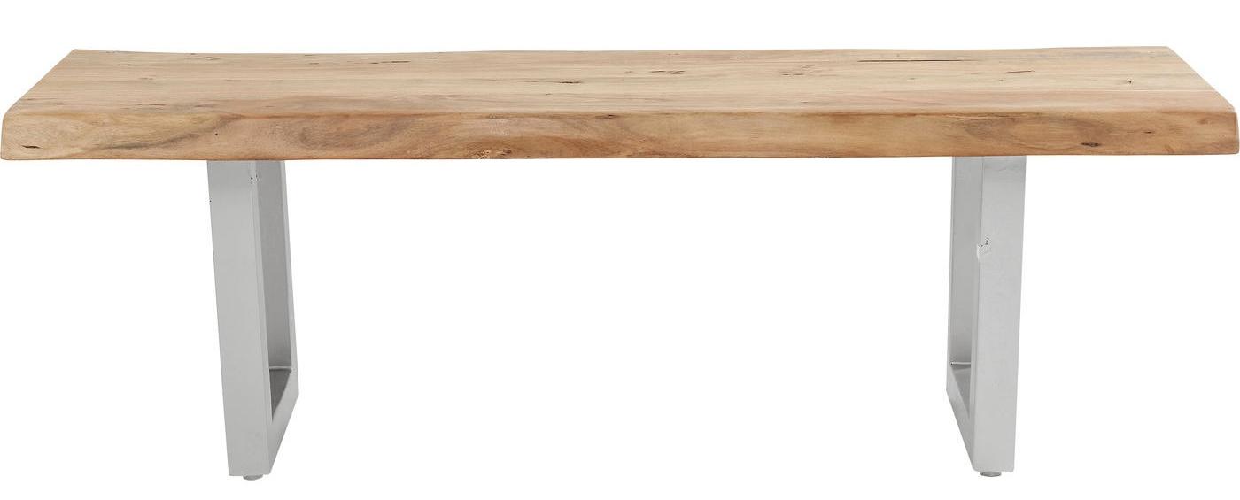 Kare Design Eettafelbank Pure Nature L140 x H45 cm Metaal Acacia Hout