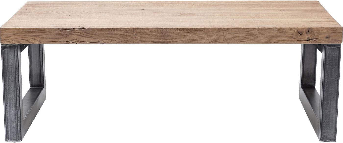 Kare Design Salontafel Seattle L120 X B69 X H42 Cm Eiken Tafelblad Stalen Onderstel kopen