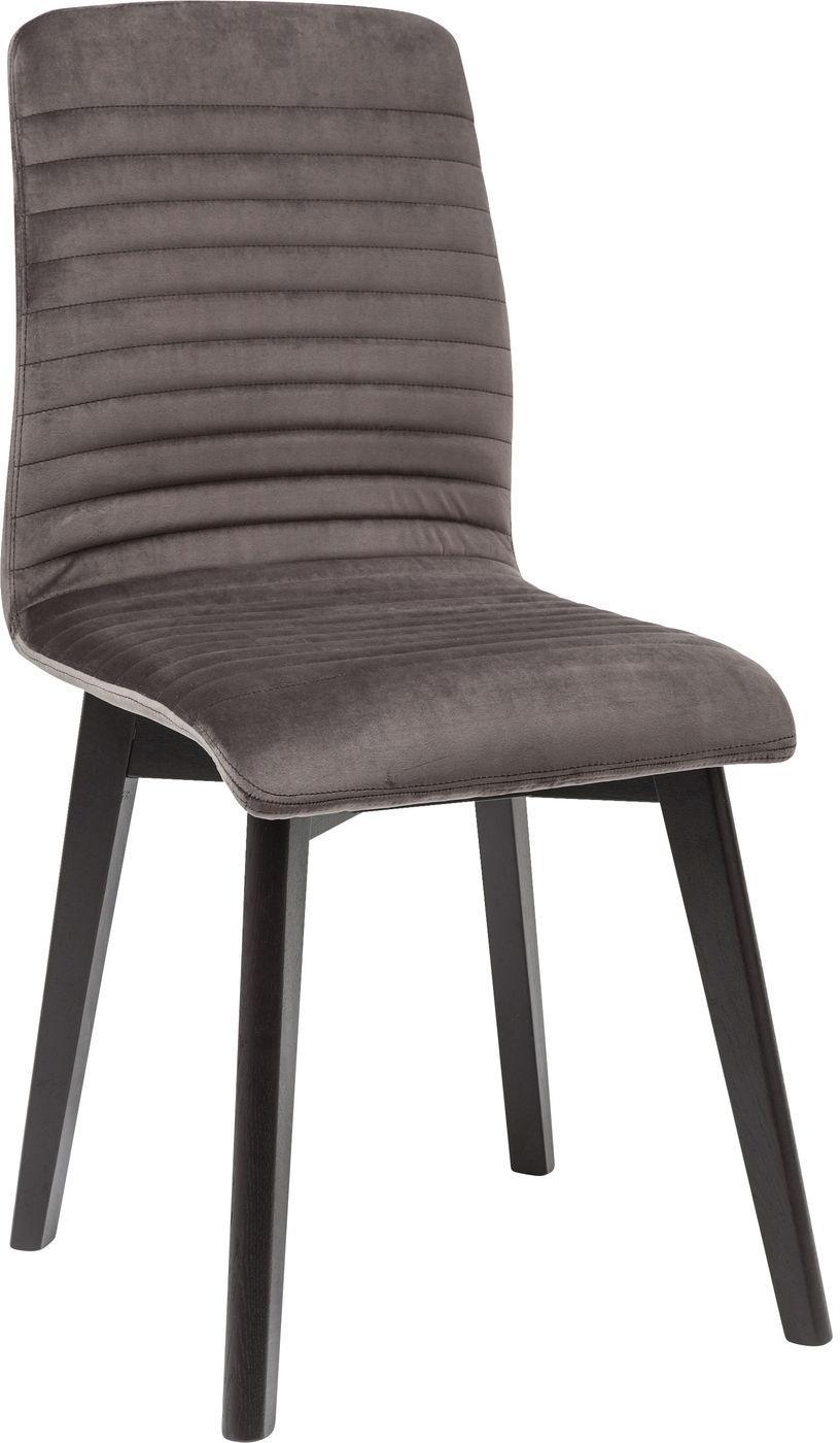 design set 2 stoelen lara fluweel grijs € 250 00 set van 2 stoelen ...