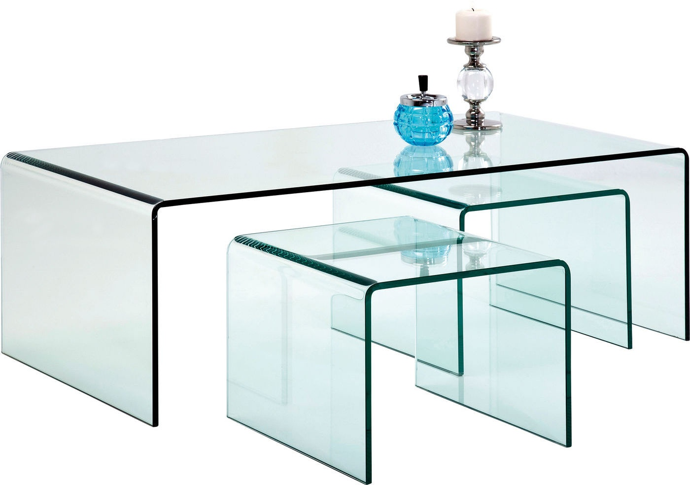 Kare Design Set 3 Salontafels Clear Club Glas kopen