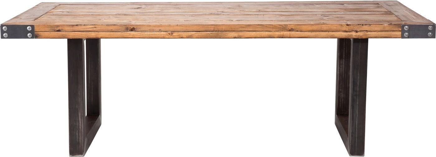 Kare Design Tafel Offroad L220 X B100 X H77 Cm Metaal Houten Tafelblad kopen