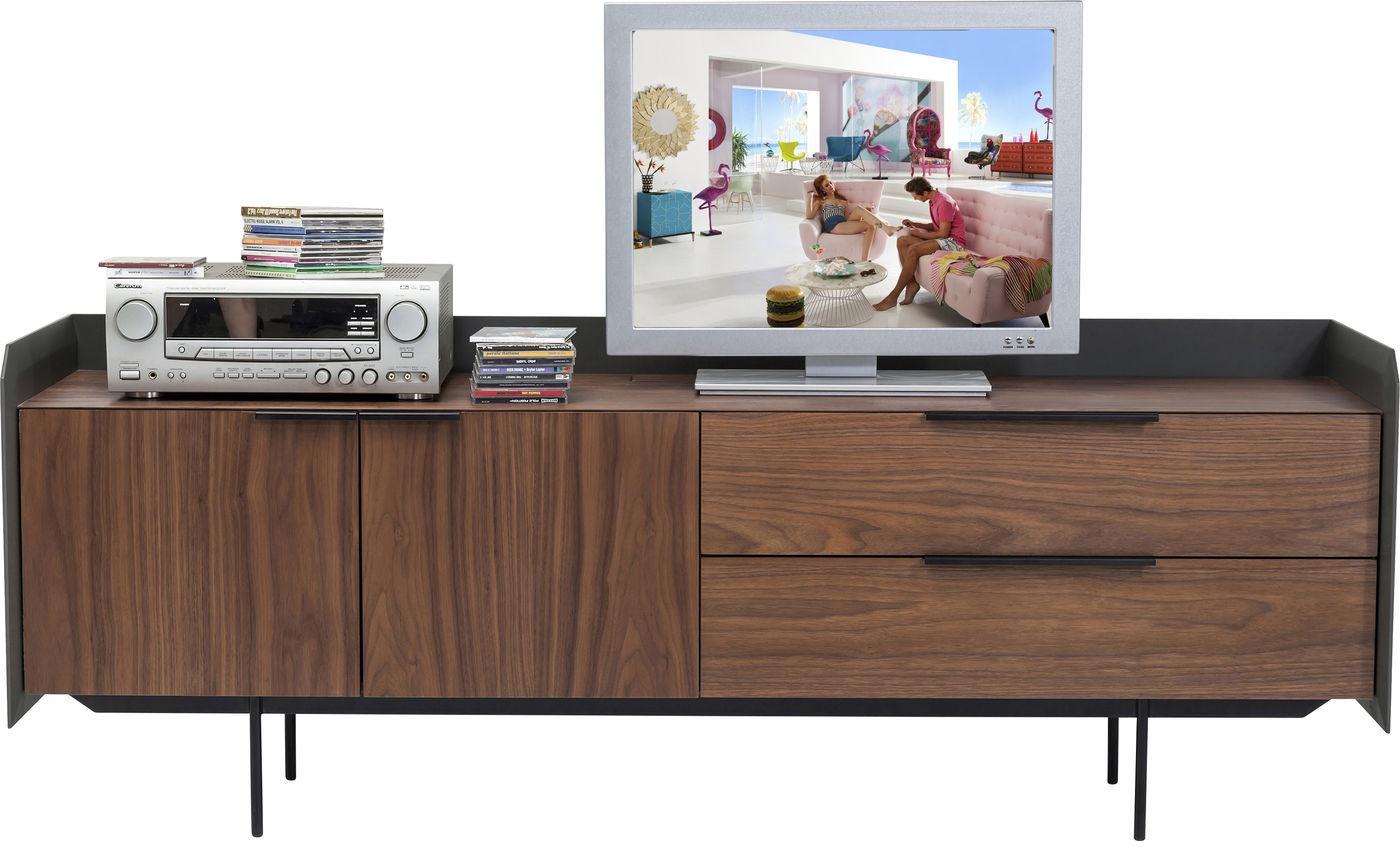 Kare design tv meubel undercover l b h cm walnoot hout