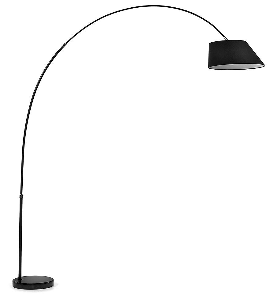 LaForma Booglamp LEE - 189 - 220 cm - Zwart