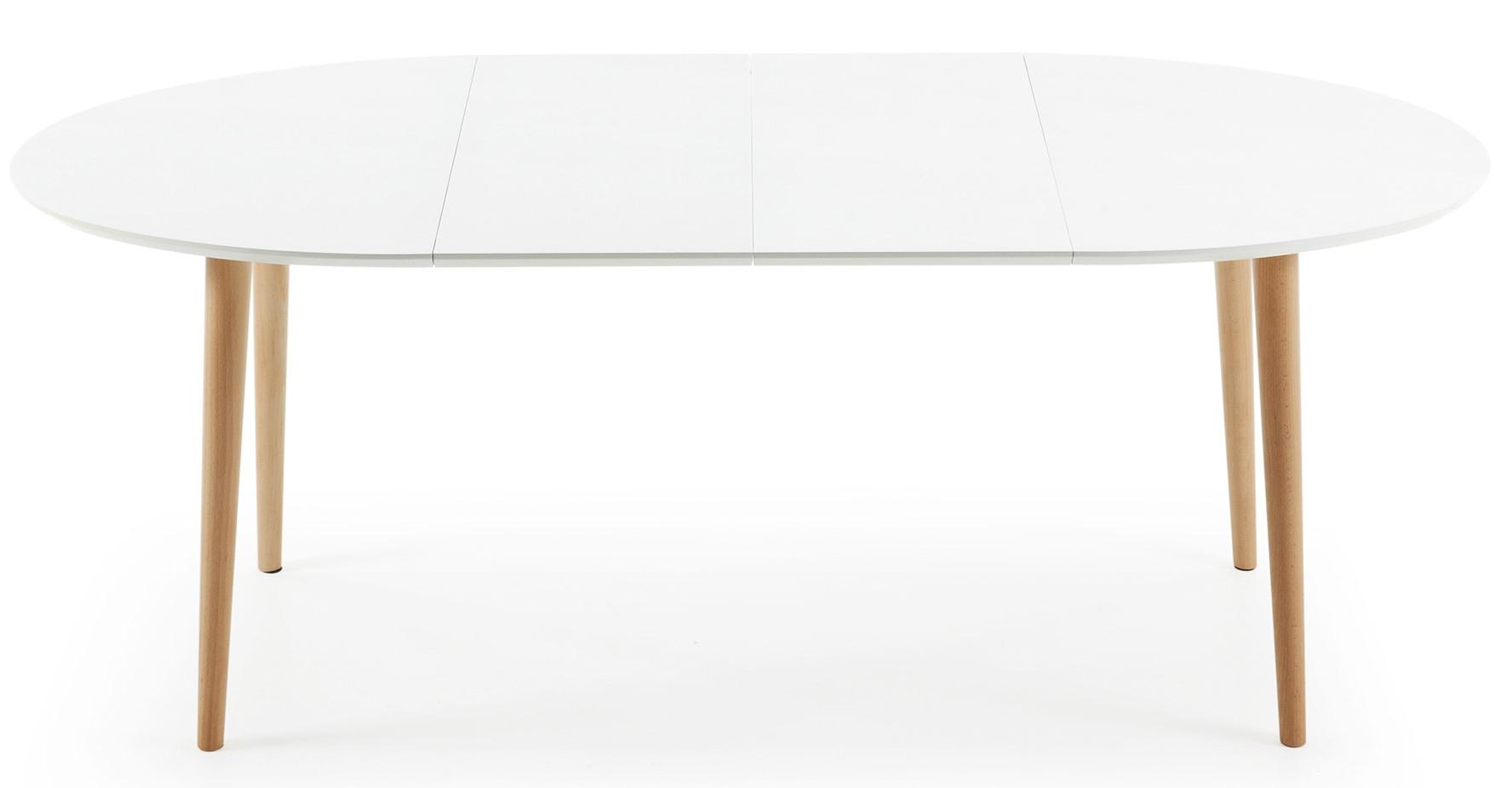 LaForma Outlet Uitschuifbare Ovale Tafel Oqui 120-200 cm Mat Wit