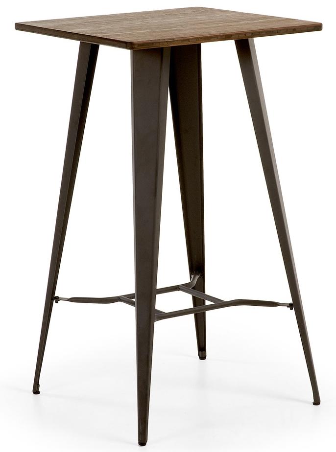 Bartafel Keuken Kopen : Laforma Bartafel Malibu L60 X B60 X H104 Cm Metallic Grijs kopen