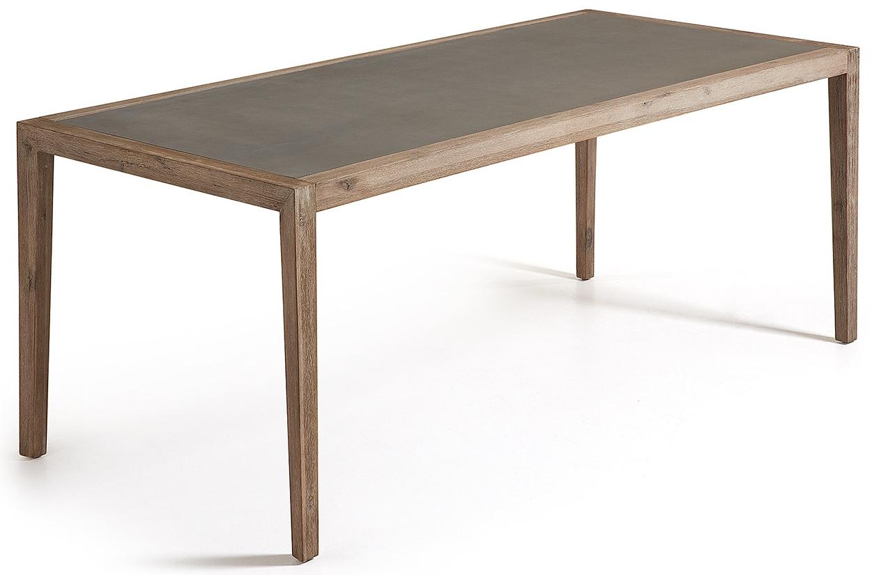 Acaciahout eettafel acacia hout tuintafel eettafel uitschuifbaar houtafel moderne hanglamp wit - Eettafel moderne ...