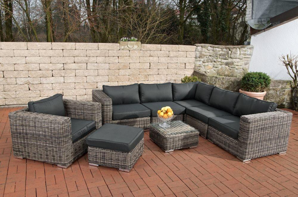 Tuinset loungeset loungeset 2017 - Zwarte bank lounge ...