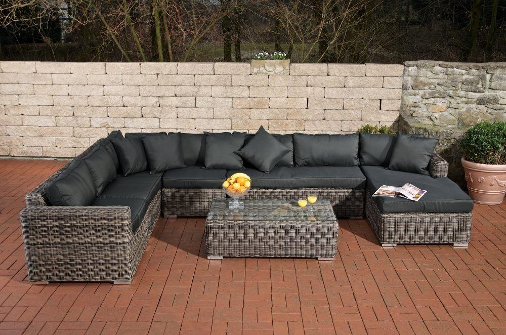 24designs Luxe 6persoons Loungeset Florida Pro Bruin   Aanbieding kopen   Lage prijs