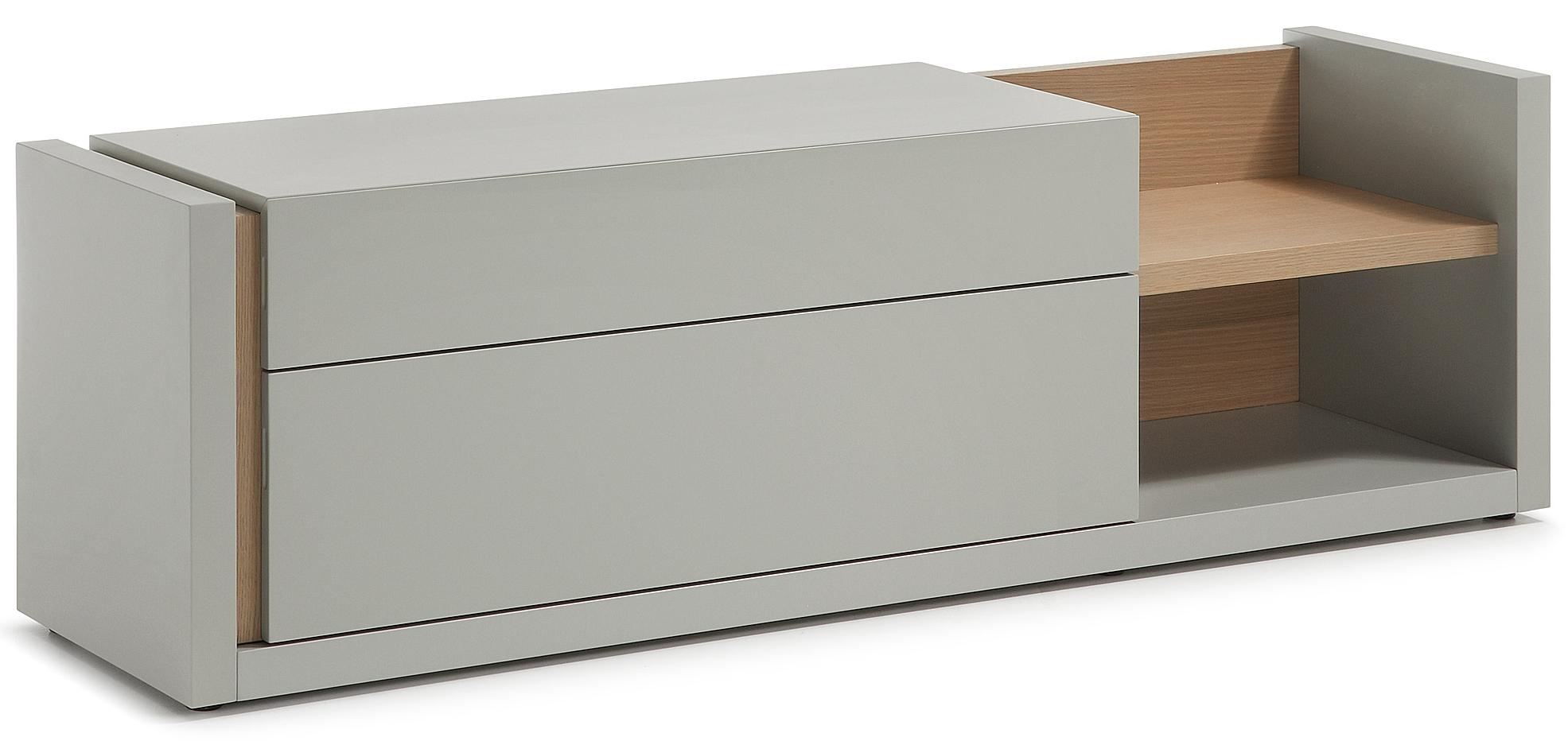 meubel qu b170 x d52 x h45 mat lichtgrijs € 620 00 modern tv meubel ...
