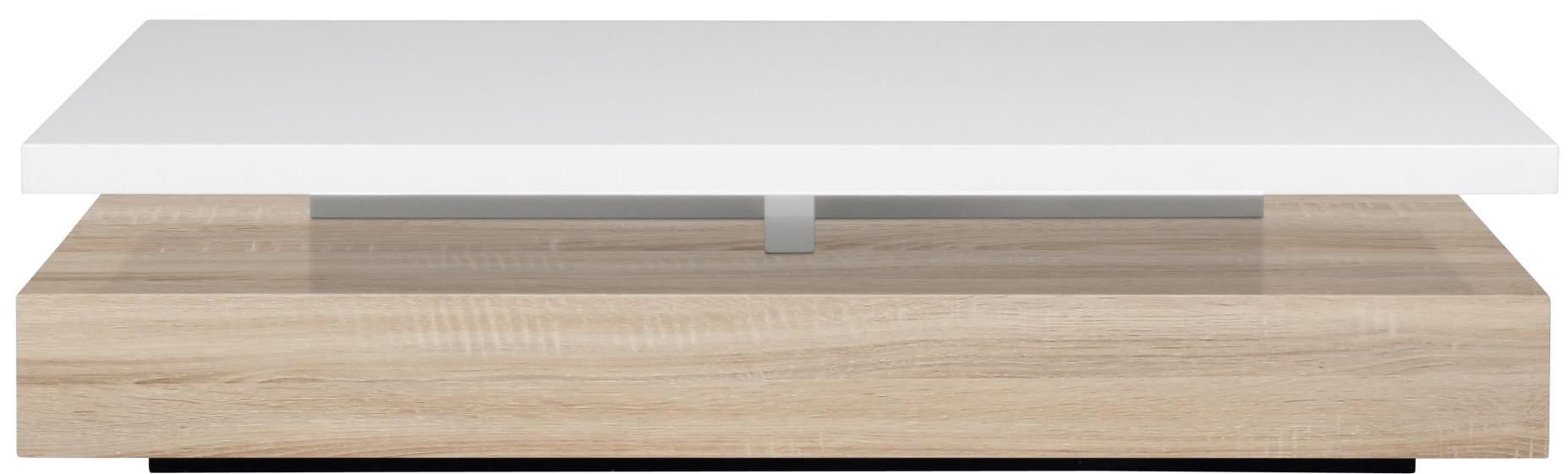 Eetkamer eetkamertafel eikenhout : 24Designs Salontafel Melissa L117 x B58 x H29 cm Wit Eiken